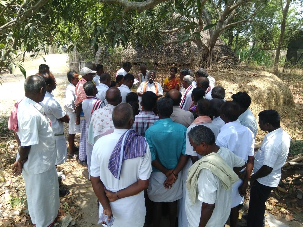 Mr.K.Jayapal, Chairman of Valanadu explaining valanadu activities to Perambalur Maize FPO members