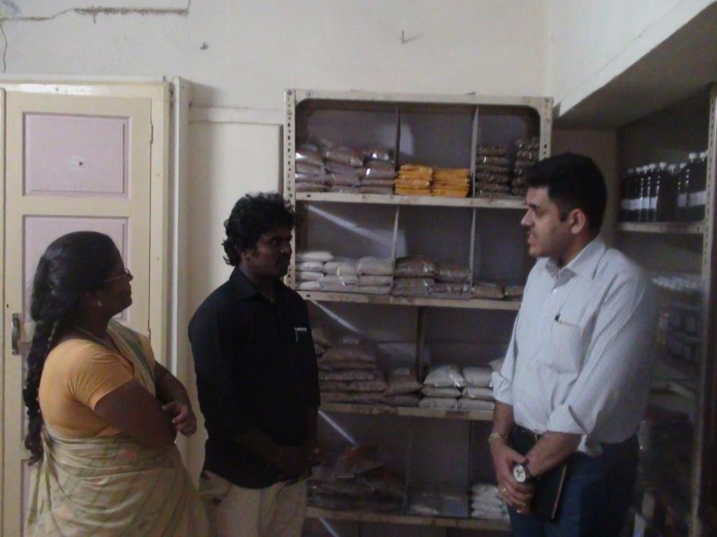Mr.Hari Rajagopal, Rabo bank foundation, New Delhi visited the Organic retail shop at sirkazhi